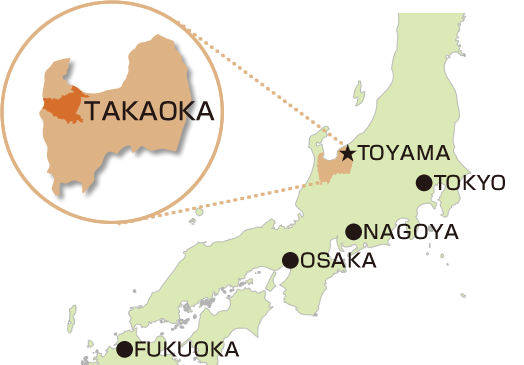 Takaoka city map